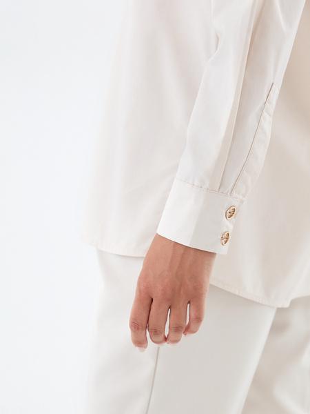 Хлопковая блузка с карманом - фото 4