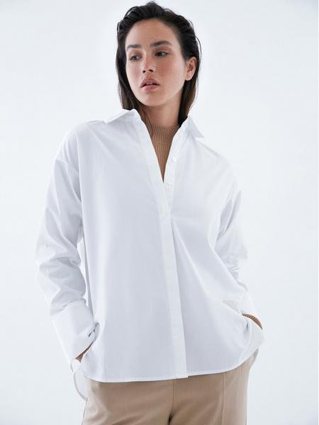 Блузка из 100% хлопка с разрезами - фото 1