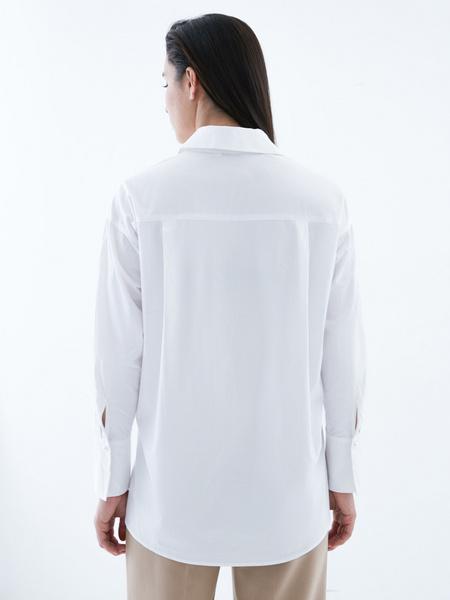 Блузка из 100% хлопка с разрезами - фото 3