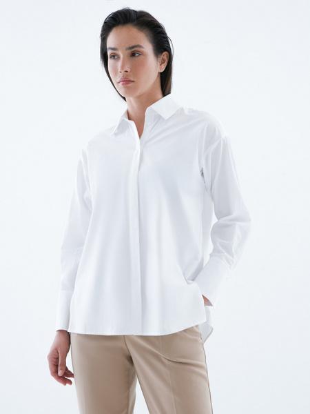 Блузка из 100% хлопка с разрезами - фото 4