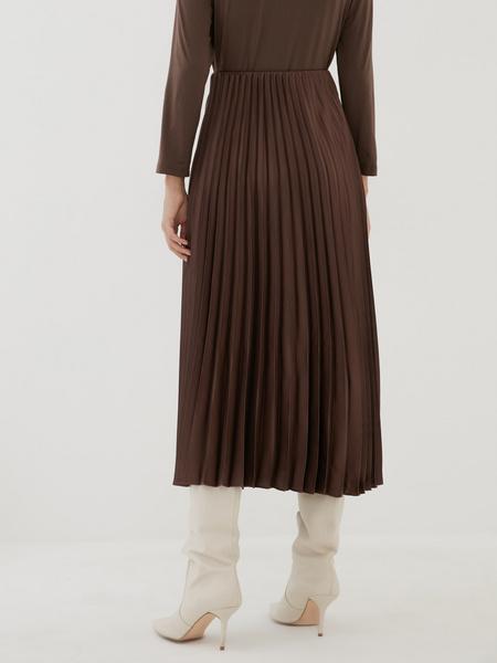 Плиссированная юбка-миди - фото 3