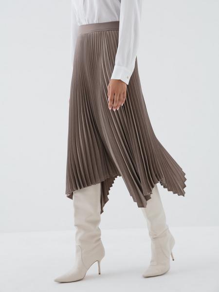 Плиссированная юбка-миди - фото 4