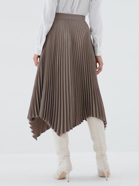 Плиссированная юбка-миди - фото 5