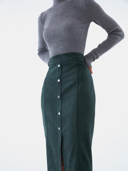 Прямая юбка на пуговицах - фото 4