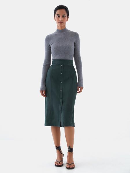 Прямая юбка на пуговицах - фото 5