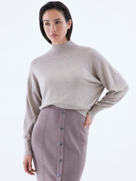 Замшевая юбка-карандаш на пуговицах - фото 5