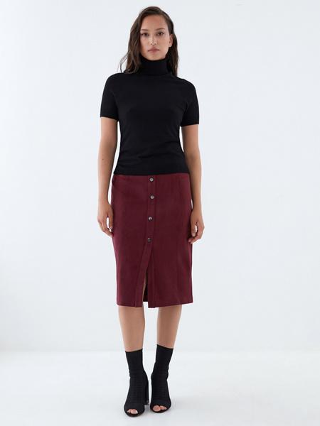 Прямая юбка на пуговицах - фото 1