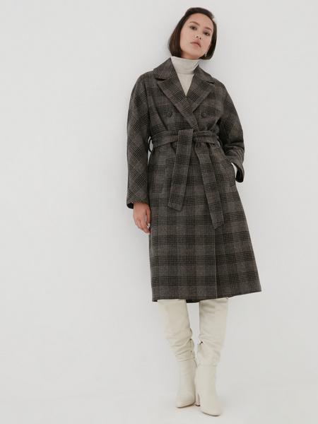 Удлиненное пальто на поясе - фото 7