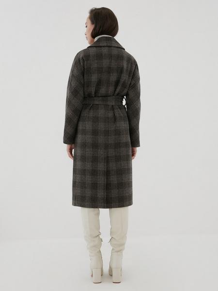 Удлиненное пальто на поясе - фото 8