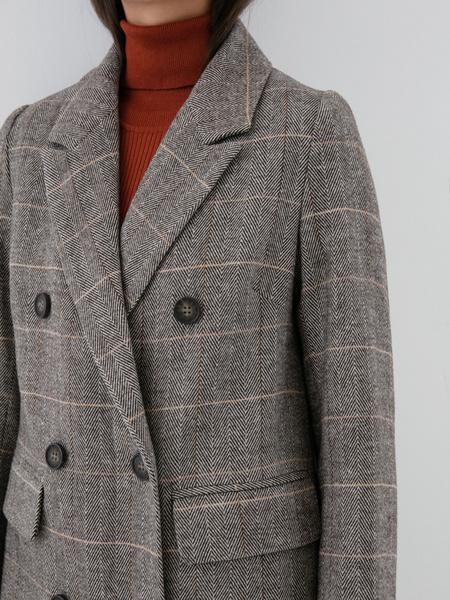 Прямое пальто с шерстью - фото 2