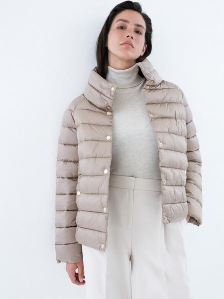 Стеганая короткая куртка - фото 1