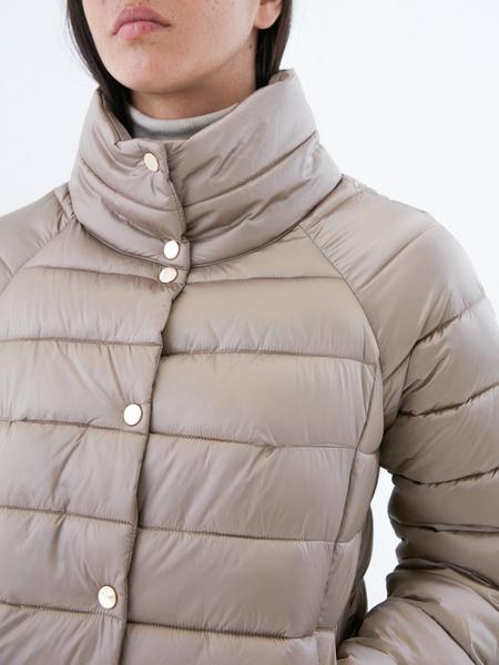 Стеганая короткая куртка - фото 3