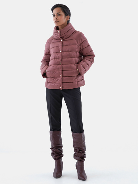 Стеганая короткая куртка - фото 7