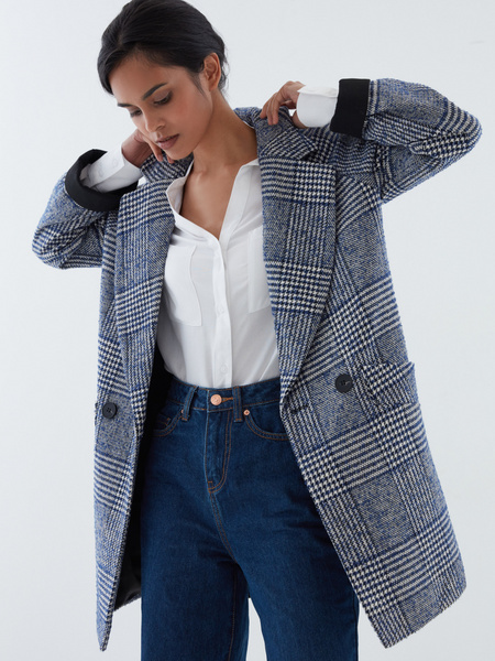 Прямое пальто на пуговицах - фото 1