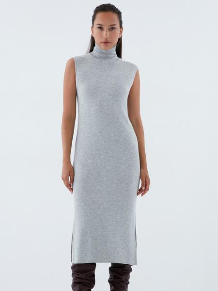 Облегающее трикотажное платье - фото 2