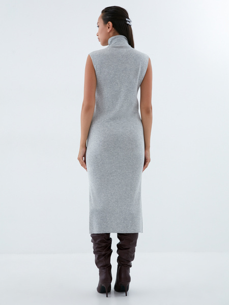 Облегающее трикотажное платье - фото 5