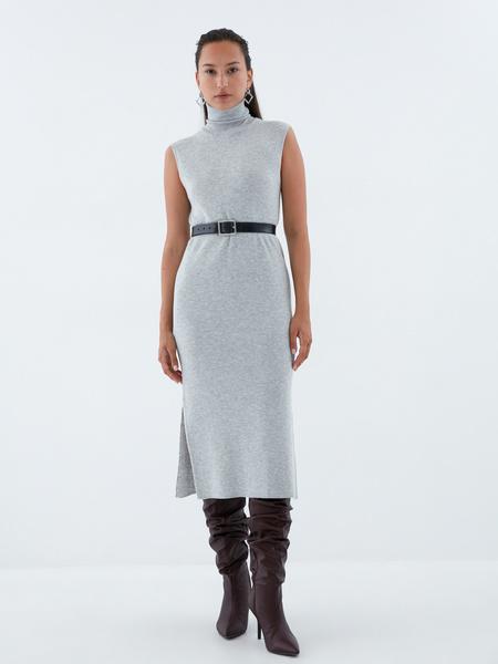 Облегающее трикотажное платье - фото 6