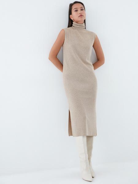 Облегающее трикотажное платье - фото 1