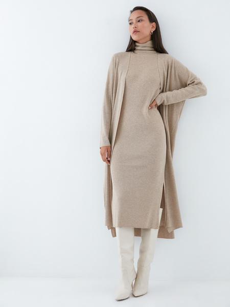 Облегающее трикотажное платье - фото 7