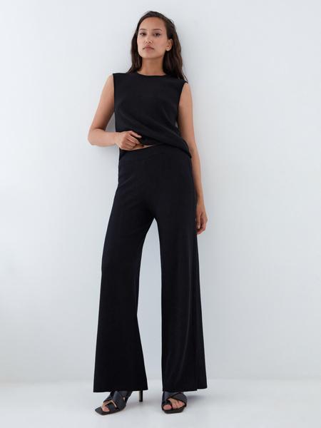 Широкие трикотажные брюки