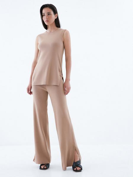 Широкие трикотажные брюки - фото 1