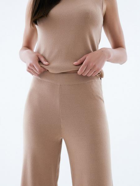 Широкие трикотажные брюки - фото 3