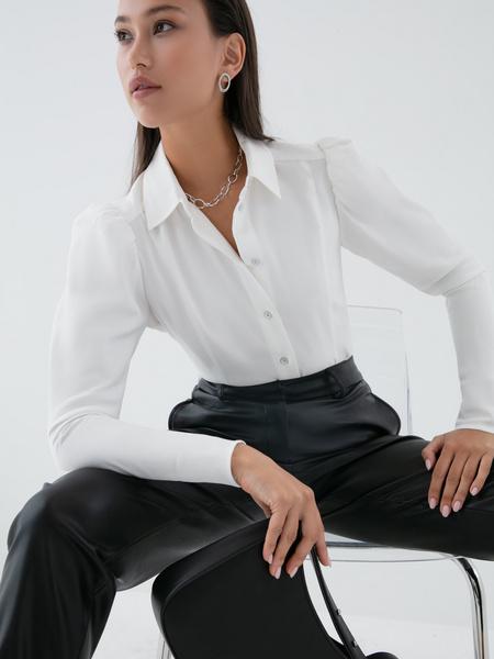 Блузка с рукавами-фонариками - фото 2
