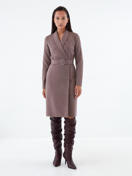 Платье-жакет с поясом - фото 1