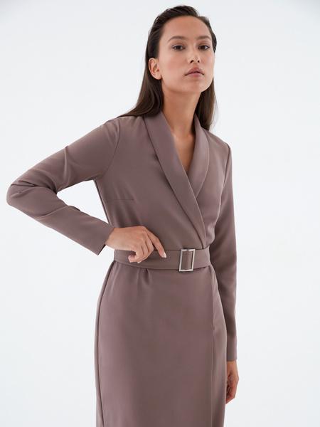 Платье-жакет с поясом - фото 2