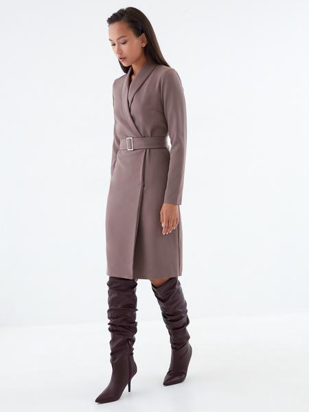 Платье-жакет с поясом - фото 3