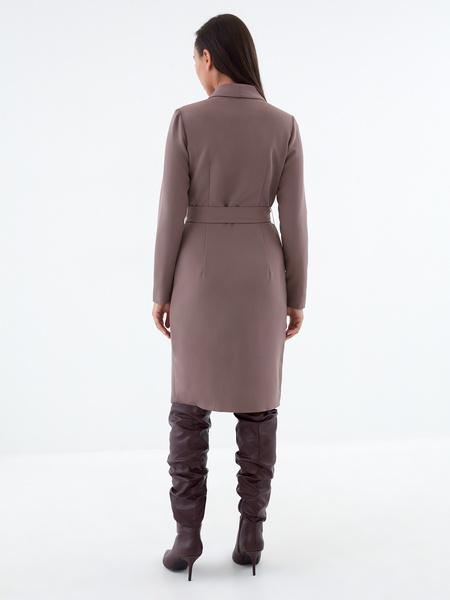 Платье-жакет с поясом - фото 4