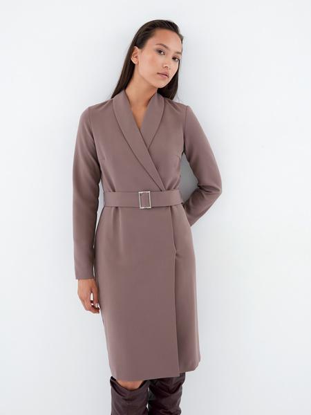 Платье-жакет с поясом - фото 5