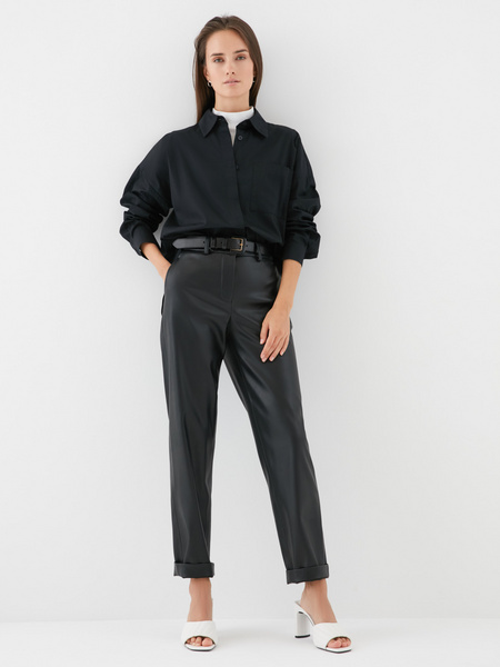Блузка с карманом на груди - фото 2