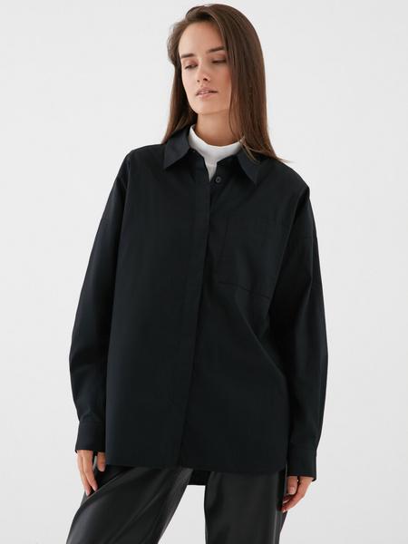 Блузка с карманом на груди - фото 3