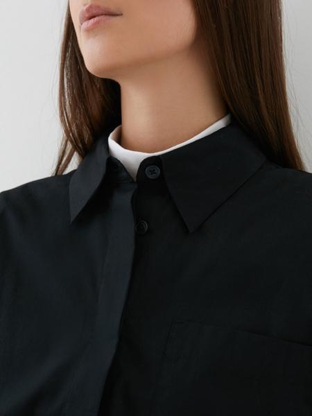 Блузка с карманом на груди - фото 4