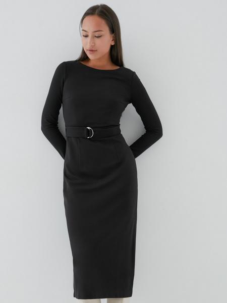 Приталенное платье-миди - фото 1