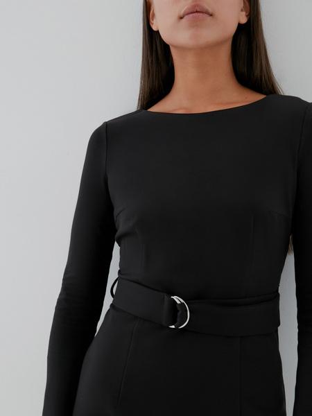 Приталенное платье-миди - фото 2
