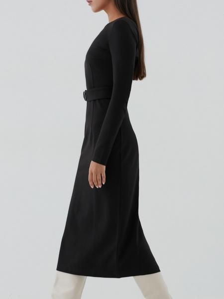 Приталенное платье-миди - фото 3