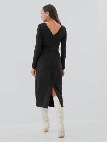 Приталенное платье-миди - фото 4