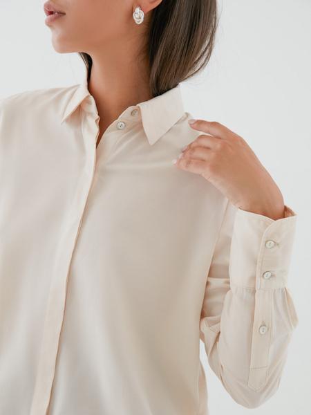 Блузка с удлиненными манжетами - фото 2