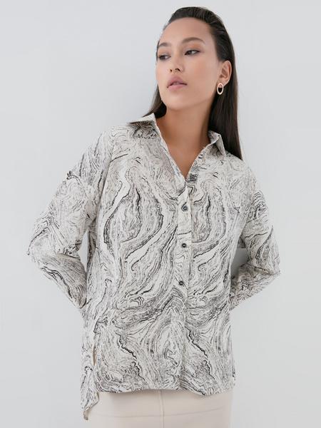 Блузка с принтом - фото 7