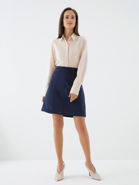 Замшевая юбка-трапеция - фото 1