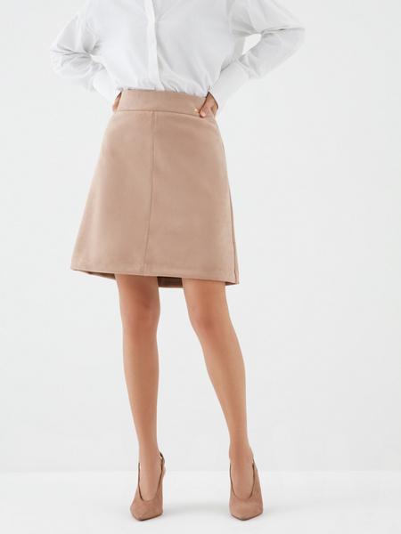 Замшевая юбка-трапеция - фото 2