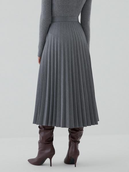 Плиссированная юбка на пуговицах - фото 4