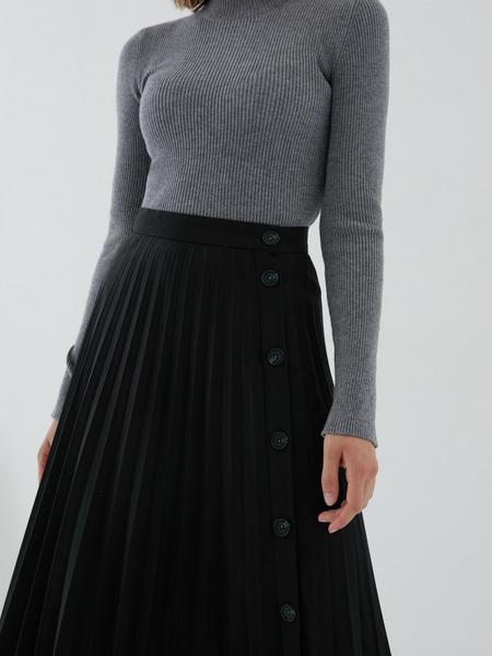 Плиссированная юбка на пуговицах - фото 3