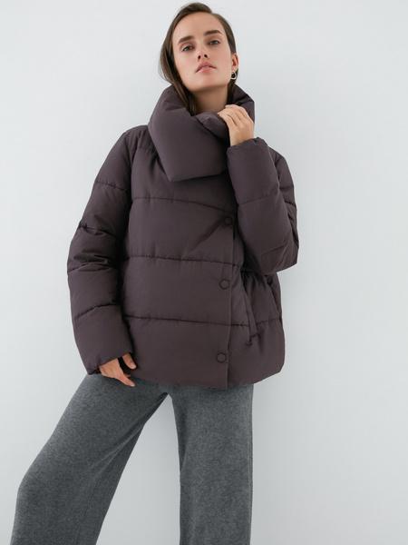 Куртка с объемным воротником - фото 1