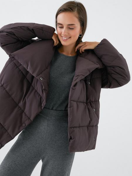 Куртка с объемным воротником - фото 4
