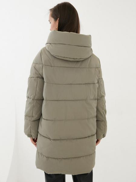 Стеганая куртка оверсайз - фото 8