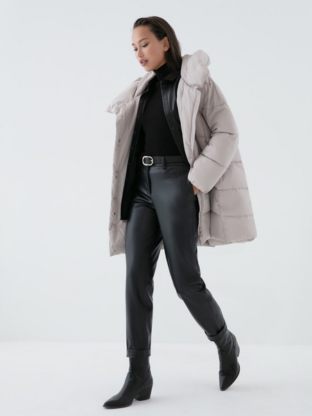 Стеганая куртка оверсайз - фото 7