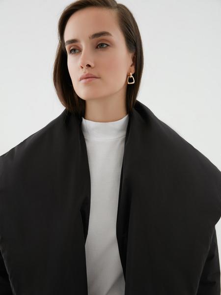 Объемное пальто с поясом - фото 3